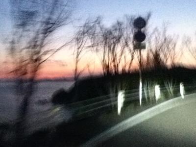 夕方の横波三里